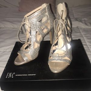 Pearl gold high heels. Wore them once